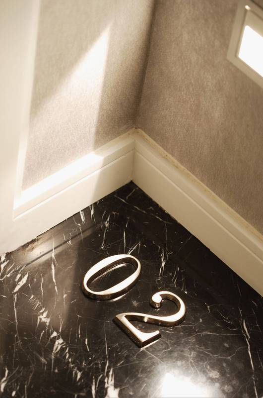 Floor Design - A great design touch - room numbers on the floor