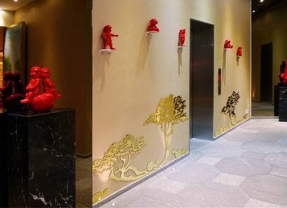 Hotel Lobby - The lobby's oriental design sets the mood of your stay