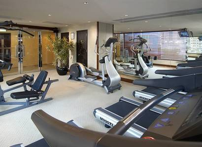 Gym Room - The 24-hour Fitness Centre keeps you trim, taut, and terrific